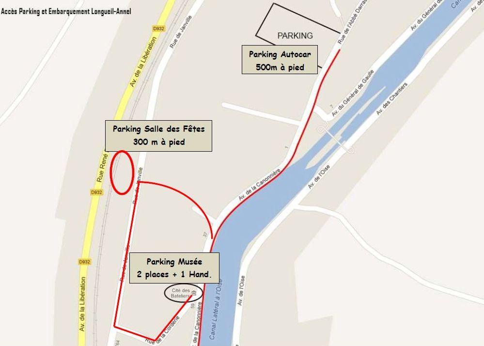 Plan des parkings de la Cité des Bateliers